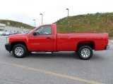 Victory Red Chevrolet Silverado 1500 in 2010
