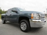 2013 Blue Granite Metallic Chevrolet Silverado 1500 LS Crew Cab #71914860