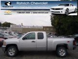 2013 Silver Ice Metallic Chevrolet Silverado 1500 LT Extended Cab 4x4 #71915325