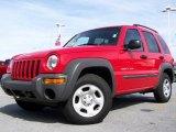2002 Flame Red Jeep Liberty Sport 4x4 #7149254