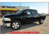 2012 Black Dodge Ram 1500 Lone Star Crew Cab 4x4 #71914970