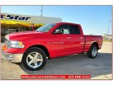 2012 Flame Red Dodge Ram 1500 Lone Star Quad Cab #71914969