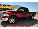 2012 Deep Cherry Red Crystal Pearl Dodge Ram 1500 Lone Star Quad Cab #71914965