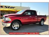 2012 Deep Cherry Red Crystal Pearl Dodge Ram 1500 Lone Star Quad Cab #71914964