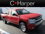 2009 Victory Red Chevrolet Silverado 1500 LT Extended Cab 4x4 #71915187
