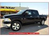 2012 Black Dodge Ram 1500 Lone Star Crew Cab 4x4 #71914957