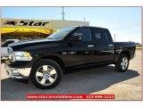 2012 Black Dodge Ram 1500 Lone Star Crew Cab 4x4 #71914956