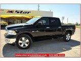 2012 Black Dodge Ram 1500 Lone Star Crew Cab 4x4 #71914955