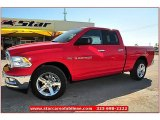 2012 Flame Red Dodge Ram 1500 Lone Star Quad Cab #71914948