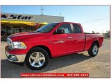 2012 Flame Red Dodge Ram 1500 Lone Star Quad Cab #71914947