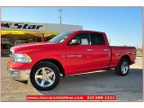 2012 Flame Red Dodge Ram 1500 Lone Star Quad Cab #71914946
