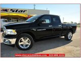 2012 Black Dodge Ram 1500 Lone Star Quad Cab #71914945