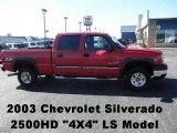 2003 Victory Red Chevrolet Silverado 2500HD LS Crew Cab 4x4 #71915258