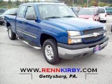 2004 Arrival Blue Metallic Chevrolet Silverado 1500 LS Extended Cab 4x4 #71915026
