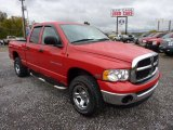 2005 Flame Red Dodge Ram 1500 SLT Quad Cab 4x4 #71915131