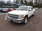2013 White Diamond Tricoat Chevrolet Silverado 1500 LT Crew Cab 4x4 #71915125