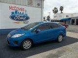 2013 Blue Candy Ford Fiesta SE Sedan #71979732