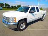 2012 Summit White Chevrolet Silverado 1500 LT Extended Cab 4x4 #71980203