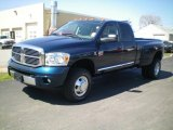 2009 Patriot Blue Pearl Dodge Ram 3500 Laramie Quad Cab 4x4 Dually #7150698