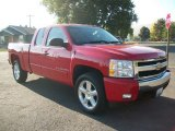 2008 Victory Red Chevrolet Silverado 1500 LT Extended Cab 4x4 #71980354
