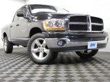 2006 Brilliant Black Crystal Pearl Dodge Ram 1500 SLT Quad Cab 4x4 #71980138