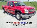 2005 Victory Red Chevrolet Silverado 1500 Z71 Extended Cab 4x4 #71980131