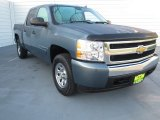 2008 Blue Granite Metallic Chevrolet Silverado 1500 LT Crew Cab #72040279