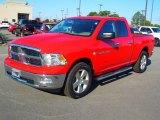 2012 Flame Red Dodge Ram 1500 Big Horn Quad Cab #72040614
