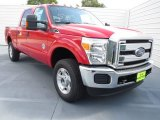 2012 Vermillion Red Ford F250 Super Duty XLT Crew Cab 4x4 #72040252