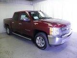 2013 Deep Ruby Metallic Chevrolet Silverado 1500 LT Crew Cab 4x4 #72040479