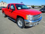 2013 Victory Red Chevrolet Silverado 1500 LT Extended Cab 4x4 #72040597