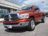 2008 Sunburst Orange Pearl Dodge Ram 1500 Big Horn Edition Quad Cab #72039990