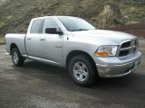 2010 Bright Silver Metallic Dodge Ram 1500 SLT Quad Cab 4x4 #72039972