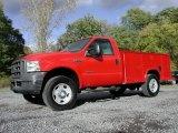 2005 Red Ford F350 Super Duty XL Regular Cab 4x4 Utility #72102210