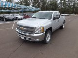 2013 Silver Ice Metallic Chevrolet Silverado 1500 LT Extended Cab 4x4 #72102082