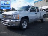 2012 Silver Ice Metallic Chevrolet Silverado 1500 LT Extended Cab 4x4 #72101628