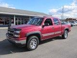 2006 Sport Red Metallic Chevrolet Silverado 1500 Z71 Crew Cab 4x4 #72102273