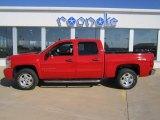 2008 Victory Red Chevrolet Silverado 1500 LT Crew Cab 4x4 #72101798