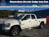 2008 Cool Vanilla White Dodge Ram 1500 Big Horn Edition Quad Cab 4x4 #72159676