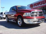 2011 Deep Cherry Red Crystal Pearl Dodge Ram 1500 Laramie Crew Cab 4x4 #72159529