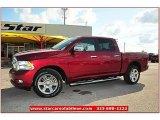 2012 Deep Cherry Red Crystal Pearl Dodge Ram 1500 Laramie Longhorn Crew Cab 4x4 #72159806
