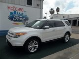 2013 White Platinum Tri-Coat Ford Explorer Limited #72159595
