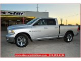 2012 Bright Silver Metallic Dodge Ram 1500 Lone Star Quad Cab #72159803
