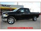 2012 Black Dodge Ram 1500 Lone Star Quad Cab #72159799
