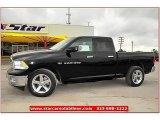 2012 Black Dodge Ram 1500 Lone Star Quad Cab #72159796