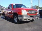 2003 Victory Red Chevrolet Silverado 1500 LS Regular Cab #72159925