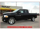 2012 Black Dodge Ram 1500 Express Quad Cab 4x4 #72159795