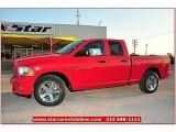 2012 Flame Red Dodge Ram 1500 Express Quad Cab 4x4 #72159793