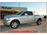 2012 Bright Silver Metallic Dodge Ram 1500 SLT Quad Cab 4x4 #72159791
