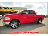 2012 Flame Red Dodge Ram 1500 Lone Star Crew Cab #72159788
